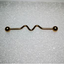 Индастриал 1.6х37 внешняя резьба 5мм шары волна в центе анод в золото