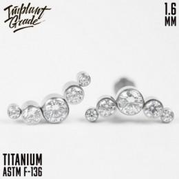 Накрутка 1.6 квинт 5К  прозрачные кристаллы