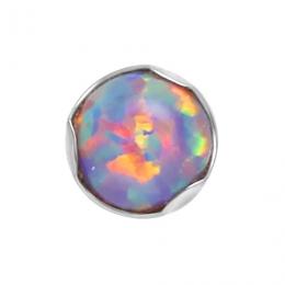 Накрутка 1.2х8 цветок 6 кристаллов цветные (продажа в сборе)