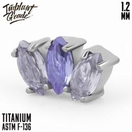 Накрутка Marquise Violet Implant Grade 1.2 мм титан