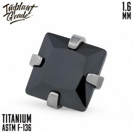 НАКРУТКА SQUARE BLACK IMPLANT GRADE 1.6x4 ММ ТИТАН