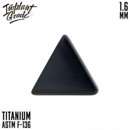 НАКРУТКА TRIANGLE BLACK IMPLANT GRADE 1.6 ММ ТИТАН+PVD