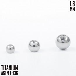 Титановый шар 1.6 3мм внутренняя резьба